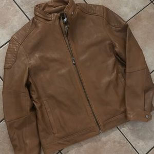 New men's classic cafe racer motorcycle jacket